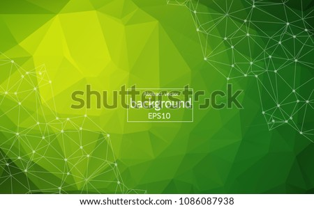 abstract multi green polygonal