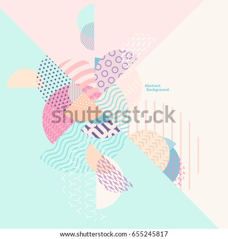 Abstract multicolored geometric composition
