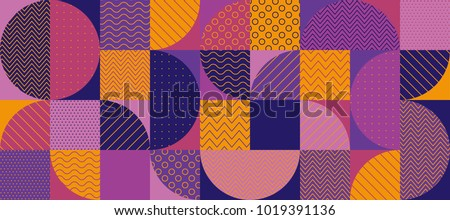 Abstract multicolored geometric pattern. Geometry stock vector illustration. Seamless pattern in violet and purple colors for fabric, background, surface design, packaging,