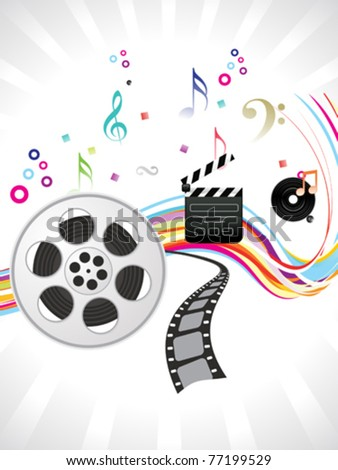 abstract multiple musical background vector illustration