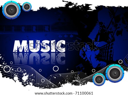 Abstract music background. Clip-art