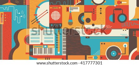 abstract music background flat