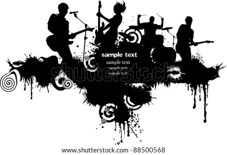 Abstract music background for music event design. vector illustration;