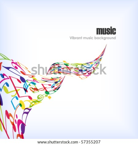 Abstract music background with tunes.