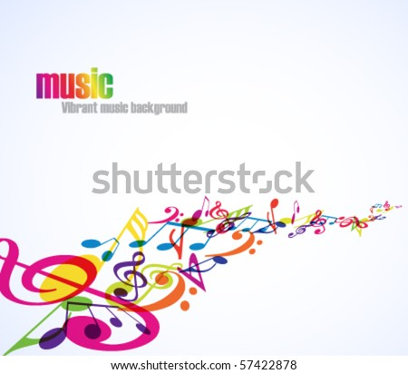 Abstract Music Background With Tunes