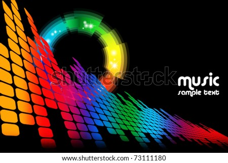 abstract music colored background