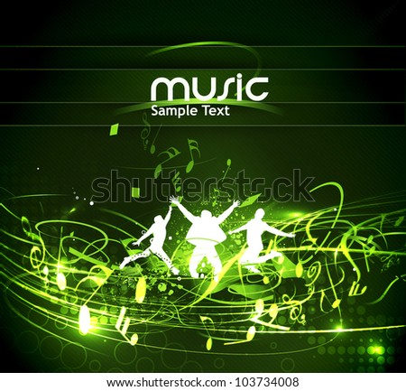 Abstract music dance background for music event design. vector illustration.