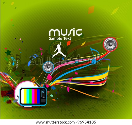 Abstract music dance background for music event design. vector illustration