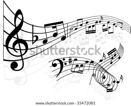 stock vector Abstract music designs