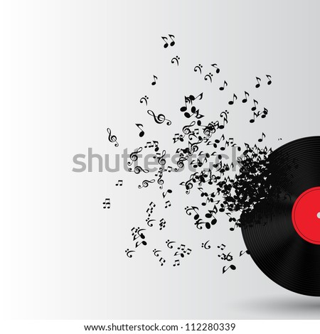 Abstract music Disk background vector illustration for your design.