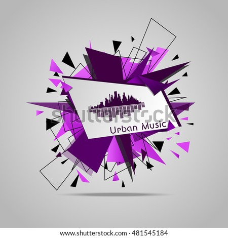 abstract music explosion vector