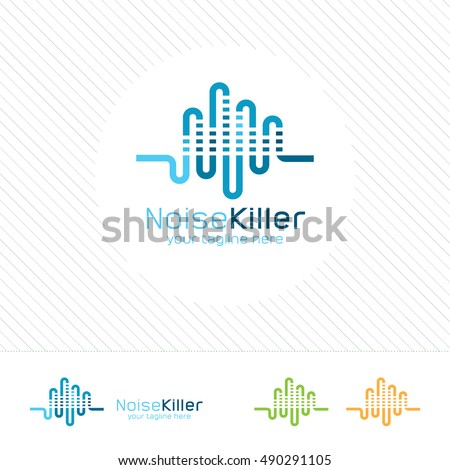 abstract music logo design
