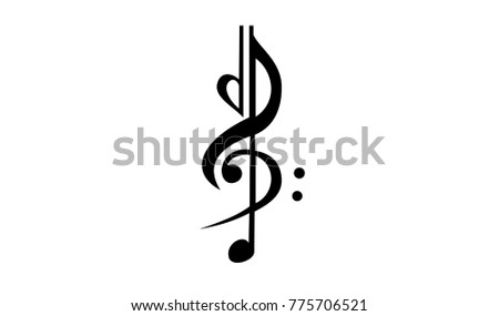 abstract music note tatoo