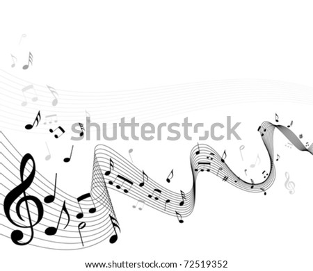 Abstract music notes sheet background