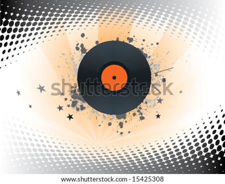 Abstract Music Record Design