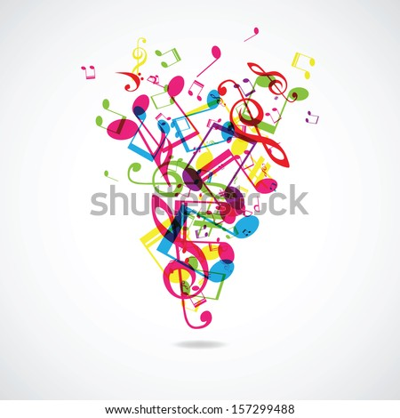 Abstract musical background (vector illustration)