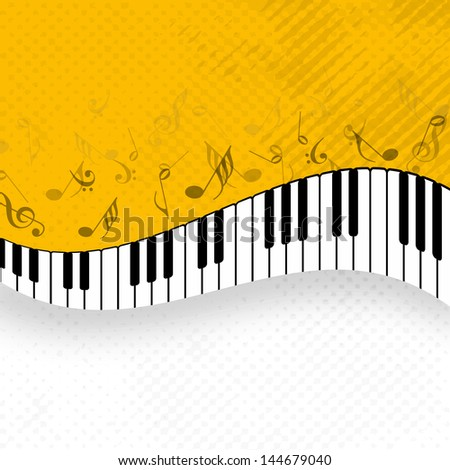 Abstract musical background with piano.