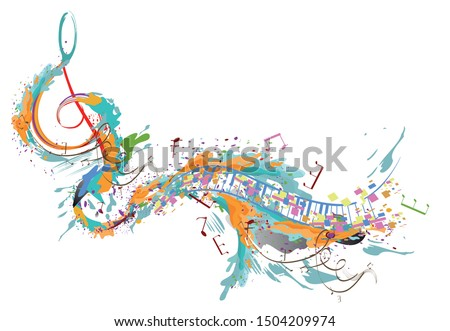 abstract musical design with a