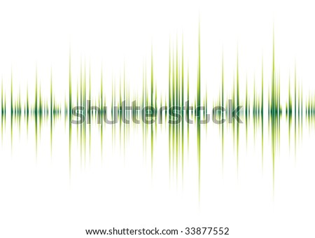 Abstract musical inspired graphical background image with peaks