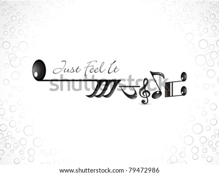 abstract musical note based music concept vector illustration