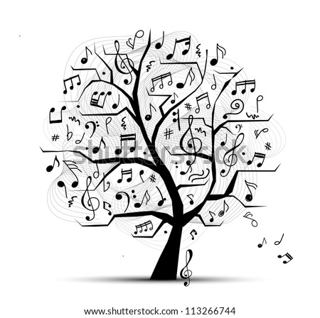 abstract musical tree for your