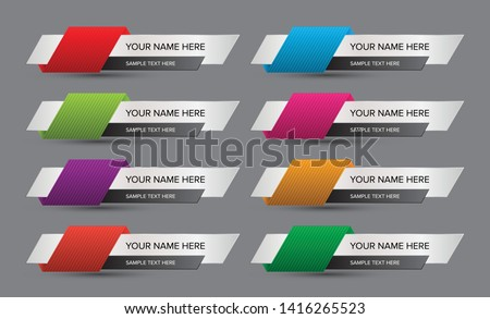 Abstract name list with sample text. Name tag, name card, list of names and contact details. Name banner labels.  Сток-фото ©