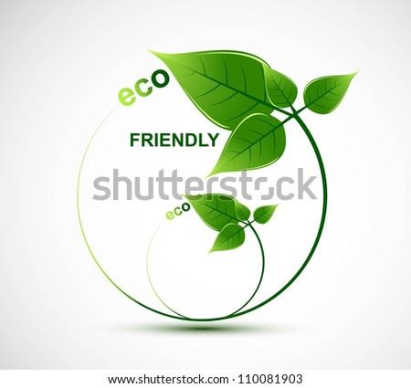 abstract natural eco green lives circle vector design