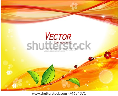 Abstract nature background - stock vector