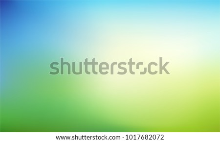 4138334f15 Abstract nature blurred background. Green gradient backdrop with sunlight.  Ecology concept for your graphic
