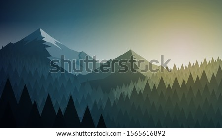 abstract nature landscape