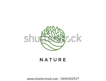 Abstract nature logo icon vector design. Healthy eco food, ecology, spa, business, diet , yoga, Environment day vector logo. Editable Design. Fitness, sport web icon.