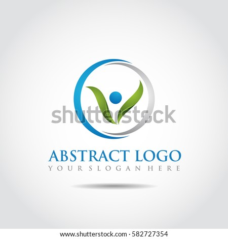 Abstract Nature Logo Template. Vector Illustrator Eps.10