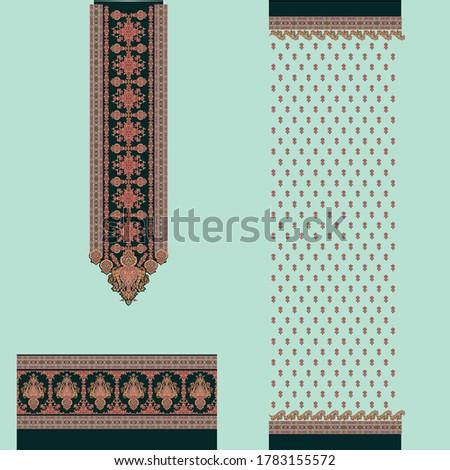 abstract neck border with small buti Zdjęcia stock ©