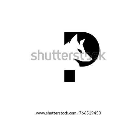 abstract negative space wolf