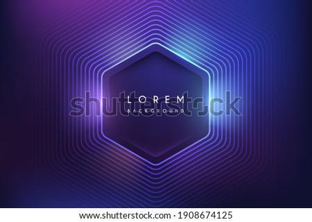 abstract neon color hexagon