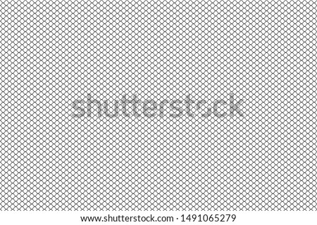 Abstract net curve line pattern with black color in white background.