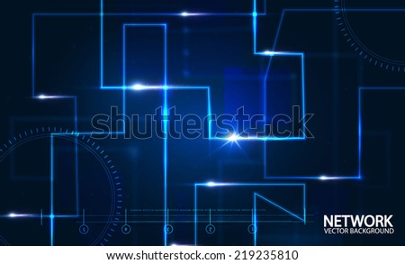 Abstract network background Vector illustration
