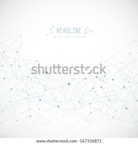 Abstract network seamless background. Triangle geometric pattern, grey and white color.