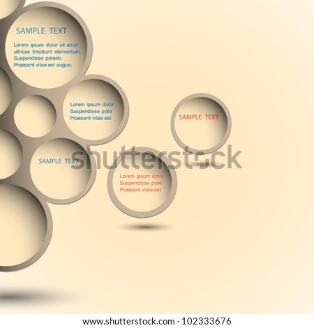 Abstract new design bubble background.Vector eps10