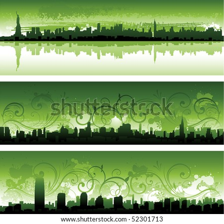 Abstract New York cityscape