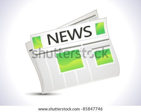 abstract news paper icon vector illustration