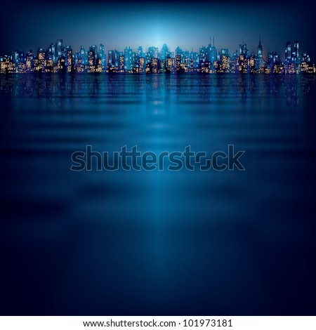 abstract night background with