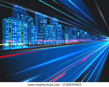 abstract night city background