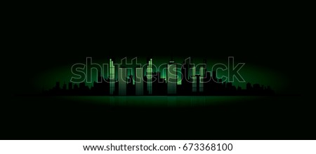 abstract night cityscape vector