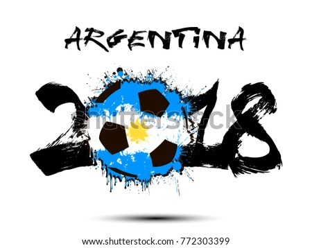 abstract number 2018 and soccer