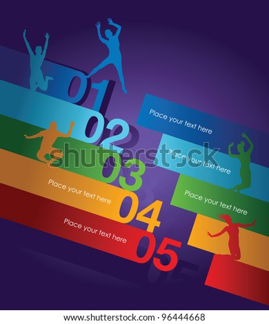 abstract number line background - stock vector