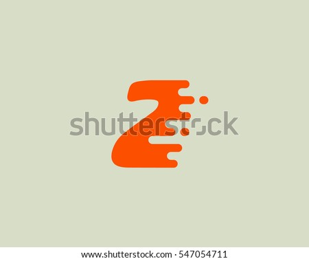 Abstract number 2 logo design template. Dynamic vector unusual digit icon. Universal fast speed fire moving water numeral logotype