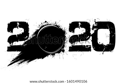 abstract numbers 2020 and