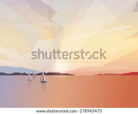 abstract ocean view landscape