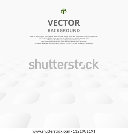 Abstract of circle shape pattern with shadow background, illustration vector eps10 #1121901191